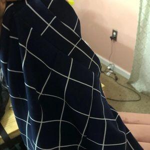 2 piece set (long fitted pants & zip crop top)